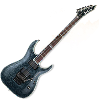 ESP LTD MH1000FRSTBLK electric guitar.