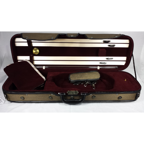 Deluxe Wood Arch Top Violin Case.