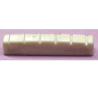 "Plastic Folk Guitar Nut 1.690"" x .240""."