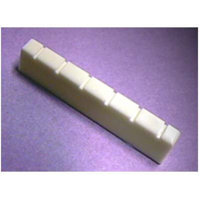 "Plastic Classical Guitar Nut 2.045"" x .240\""."
