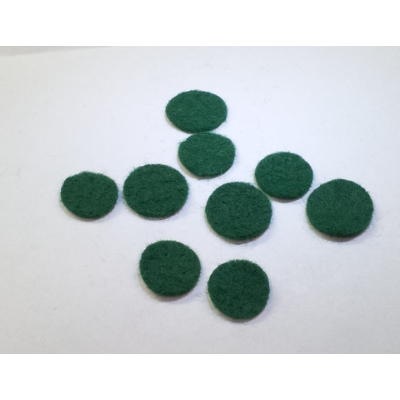 Micro 100 Assorted Flat Green Felts For Sax Keys.