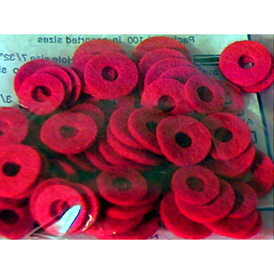 Micro Assorted Red Felt Valve Washers 100 Pack.