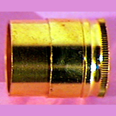 Brass Alto Sax End Plug.