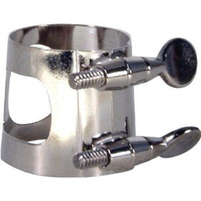 Alto Sax Ligature Nickel Plated.