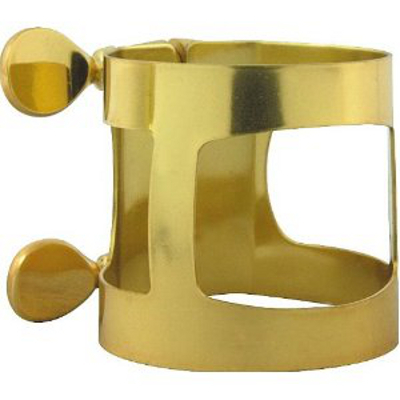Bari Sax Ligature Gold Plated.