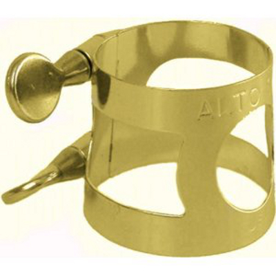 Alto Sax Ligature Gold Plated.