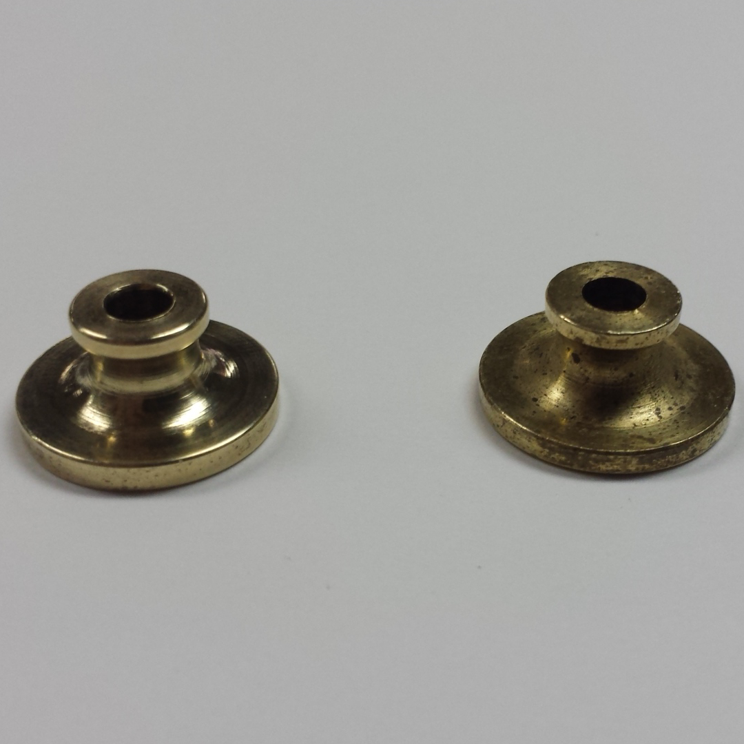 Charvel NOS Solid Brass Strap Buttons For Guitar , Newark
