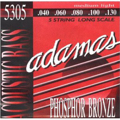 Adamas Med Light 5 String Acoustic Bass Strings.