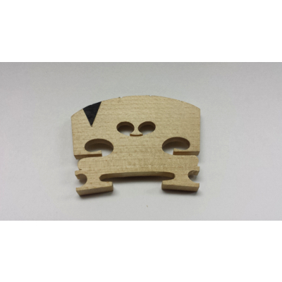 1/2 Size Maple Violin Bridge With Insert.