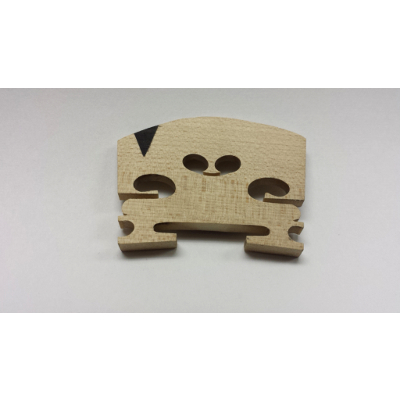 3/4 Size Maple Violin Bridge With Insert.