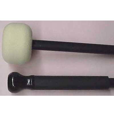 "Bass drum mallet 2-1/2"" solid felt head wih aluminum shaft and w"