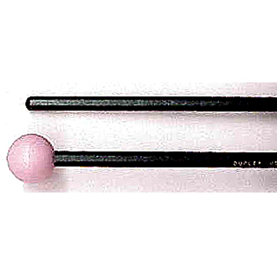 "Bell lyra mallet 1"" round rubber head with rattan shaft."