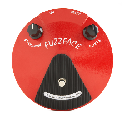 Dunlop Fuzz Face Distortion Pedal.