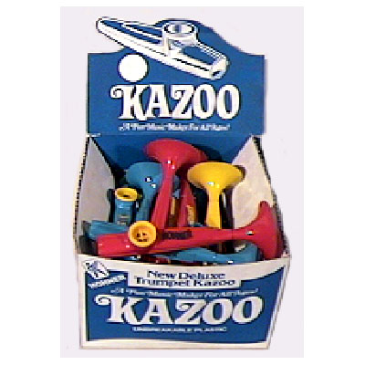 Plastic Kazoo with Trumpet Bell Box of 50.