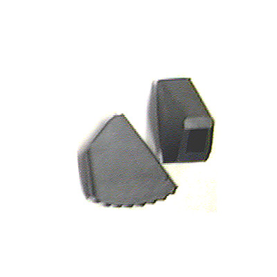 "Flat Rubber Stand Feet Fits 9/16"" x 3/8""."
