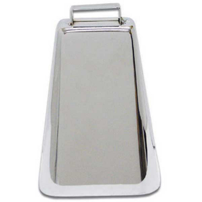 6.75 Inch Chrome Cowbell.