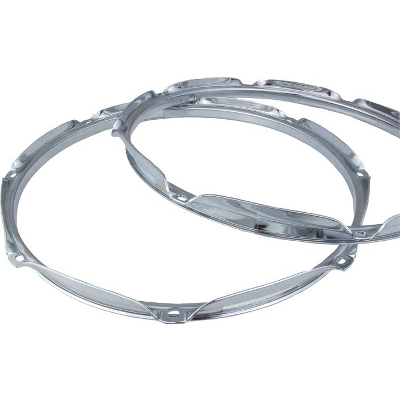 Chrome Drum Hoop 12 Inch 6 Hole.
