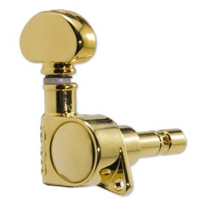Grover Mini Locking Rotomatic 6 In Line Gold.