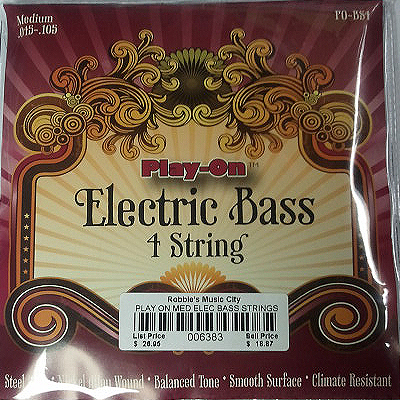 Play-On 4 String Electric Bass Strings.