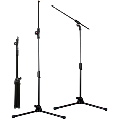 "Galaxy 90"" Concealed Boom Mic Stand."