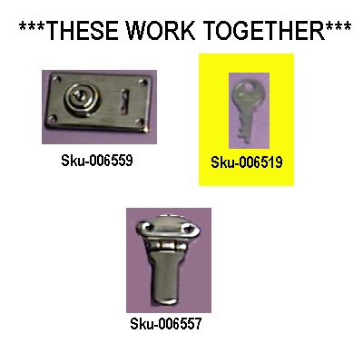 Key for Stand Out Case Lock.