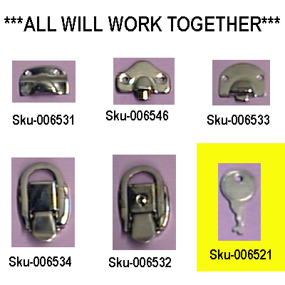 Key For Heavy Duty Latch With Lock.