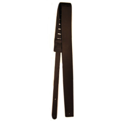 "3"" Black Leather Guitar Strap."