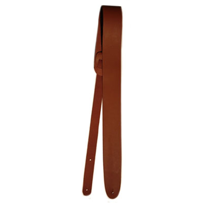 "2"" Brown Leather Guitar Strap."