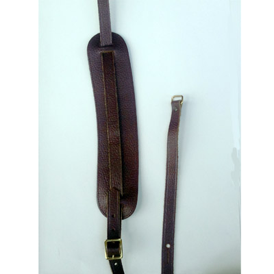 Brown Leather Mandolin Strap.