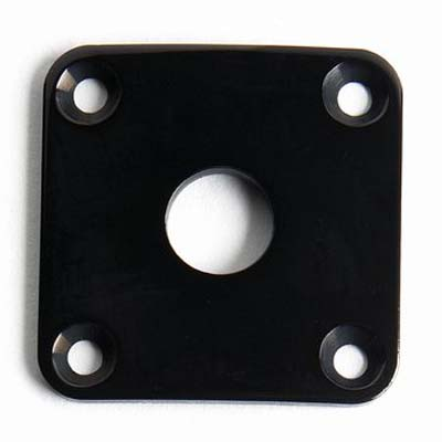 Black Les Paul Jack Plate.