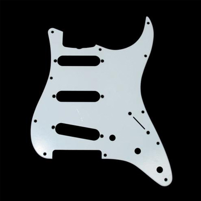Pick Guard for Strat White 3-Ply.