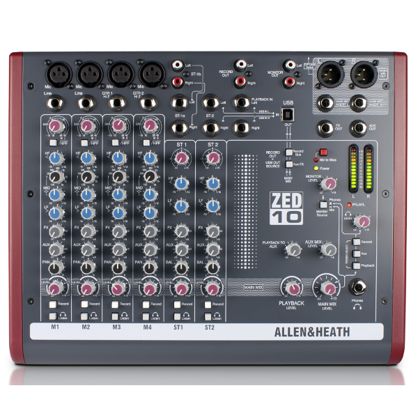 Allen & Heath ZED 10 Mixer.