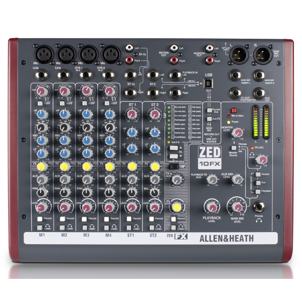 Allen & Heath ZED 10FX Mixer.
