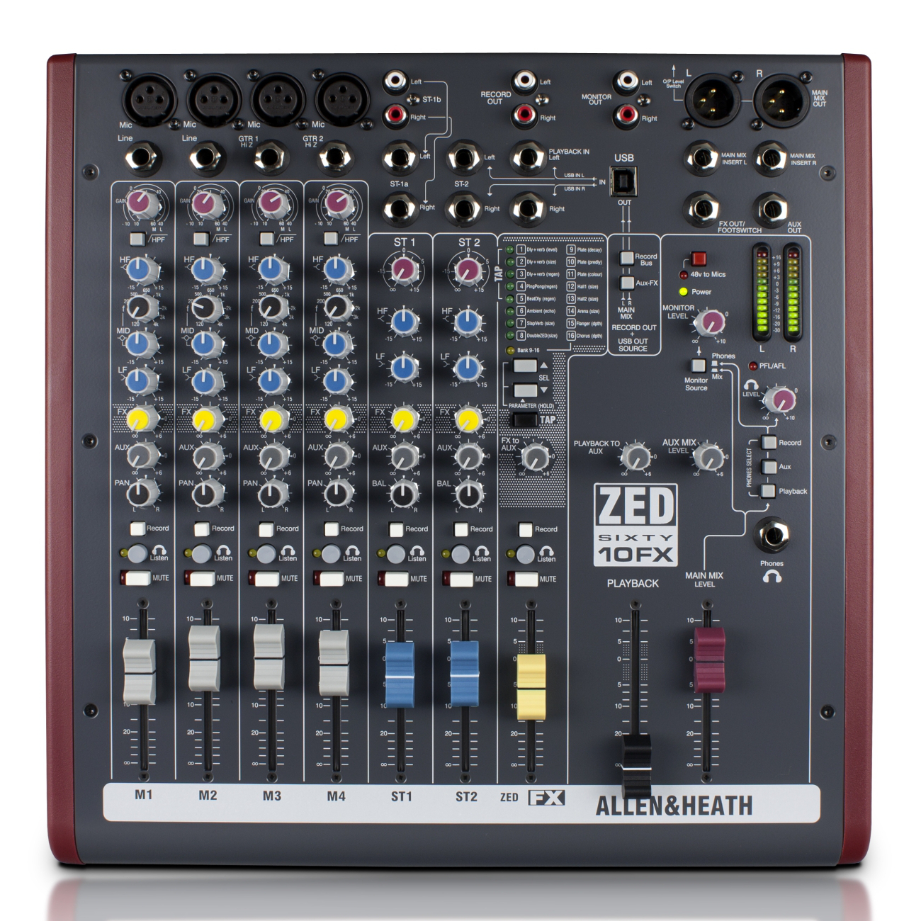 Allen & Heath ZED60-10FX Mixer.