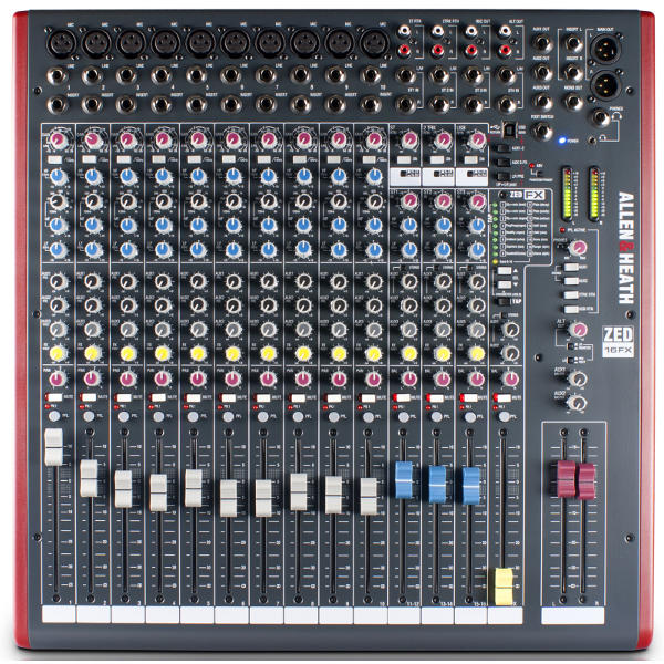 Allen & Heath ZED 16FX Mixer.