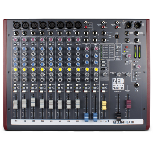 Allen & Heath ZED 60/14FX Mixer.