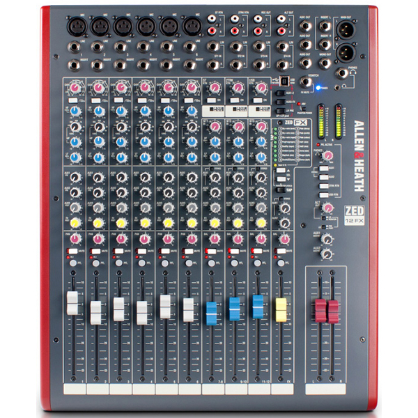 Allen & Heath ZED 12FX Mixer.