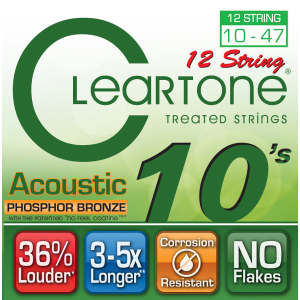 Cleartone Phosphor Bronze 12 String Acoustic Strings.
