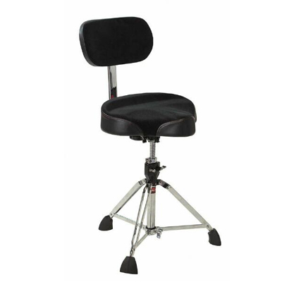 Gibraltar pro drum throne with backrest.
