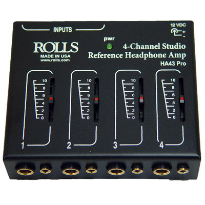 HA43 Pro 4 Channel Headphone Amp.