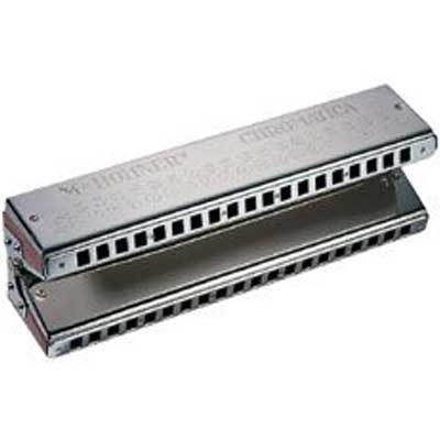 Hohner Double Bass Harmonica.