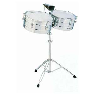 Toca Timbale set with stand chrome.