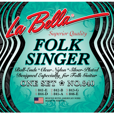 La Bella 840 Folk Singer Guitar Strings.