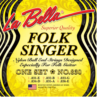 La Bella 830 Folk Singer Guitar Strings.