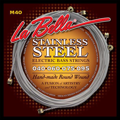 La Bella M40-B Stainless Steel Bass Strings.