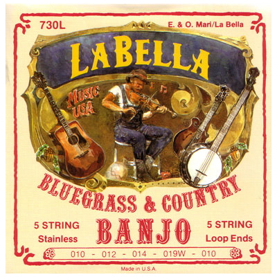 La Bella Light Silver Plated 5 String Banjo Strings.