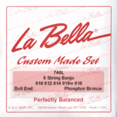 La Bella Light Phos Bronze 5 String Banjo Strings.
