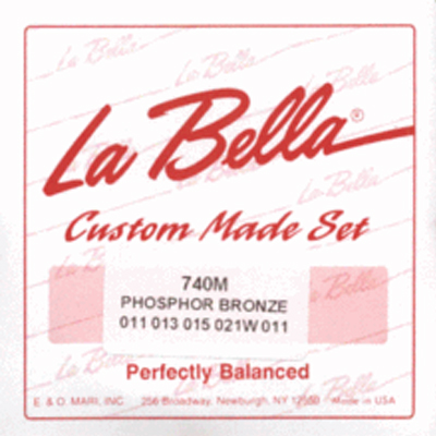 La Bella Medium Phos Bronze 5 String Banjo Strings.