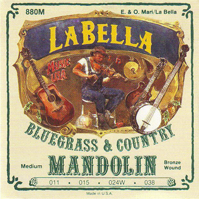 La Bella Medium Phos Bronze Mandolin Strings.