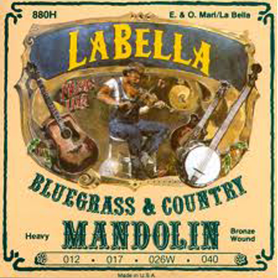 La Bella Heavy Phos Bronze Mandolin Strings.